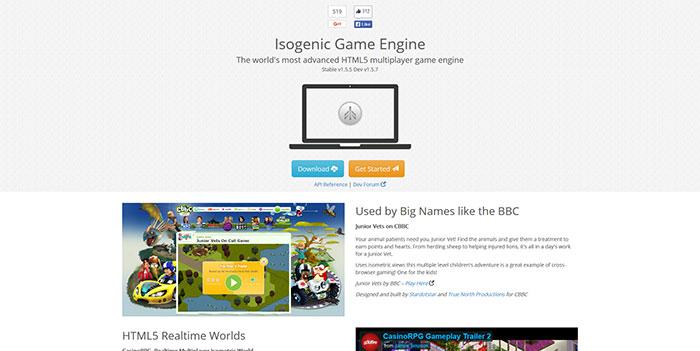 Isogenic Engine Javascript & HTML5 game engine library