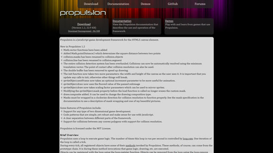 Propulsion Javascript & HTML5 game engine library