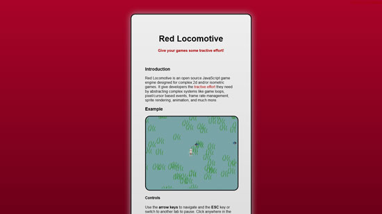 Red Locomotive Javascript & HTML5 game engine library