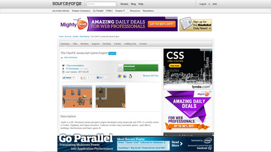 The ClanFX Javascript & HTML5 game engine library