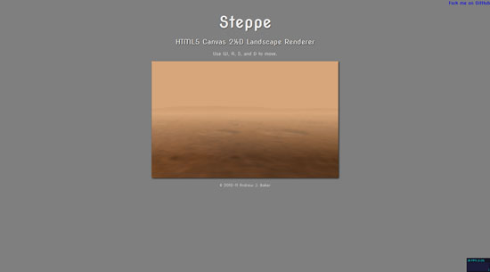 Steppe: HTML5 Canvas 2D Landscape Renderer Javascript & HTML5 game engine library