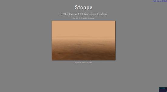 Steppe: HTML5 Canvas 2D Landscape Renderer Javascript & HTML5 game engine library