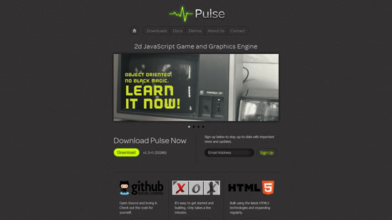 Pulse Javascript & HTML5 game engine library