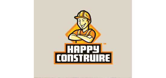 Happy Counstruire Logo Design Inspiration