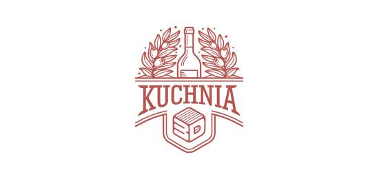 Kuchnia 3D Logo Design Inspiration