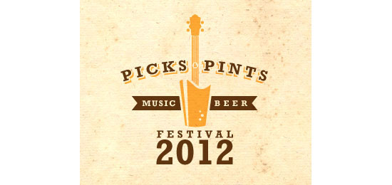 Picks & Pints Logo Design Inspiration