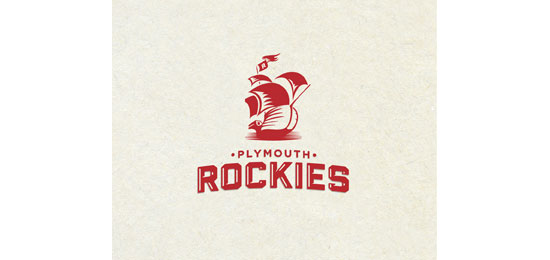 Plymouth Rockies Logo Design Inspiration