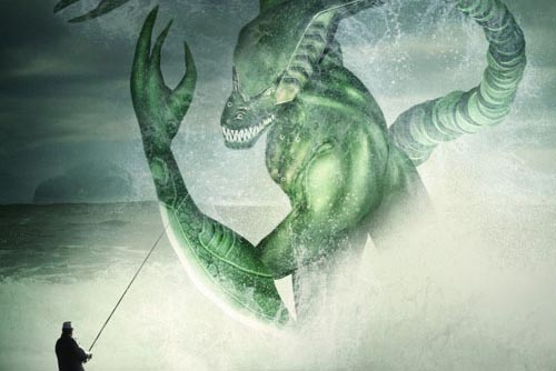 Create a Spectacular Fantasy Sea Monster Photoshop tutorial