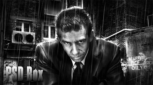 Business Man – Awesome Black & White Photoshop tutorial