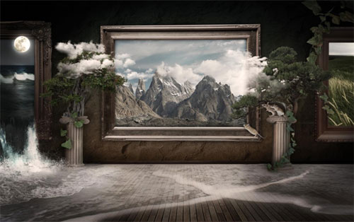 Create a living museum in Photoshop tutorial