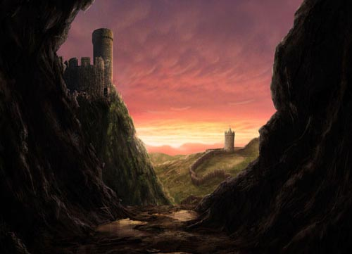 Create a Medieval Landscape in Photoshop tutorial