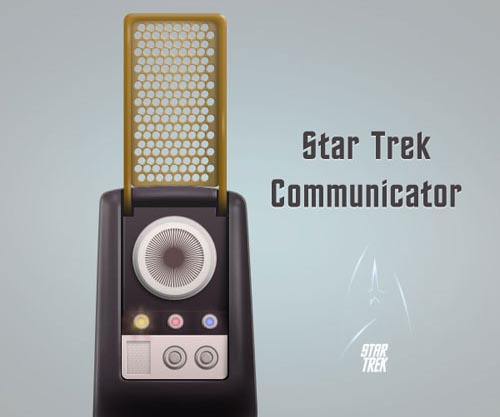 Create a Star Trek Style Communicator in Photoshop tutorial