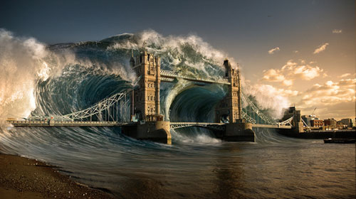Create a Devastating Tidal Wave in Photoshop tutorial