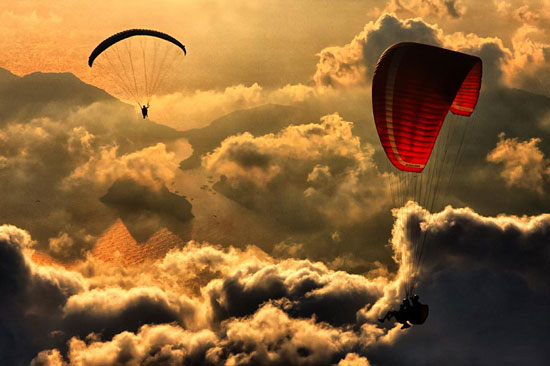Paragliding Beautiful Landscape Photography