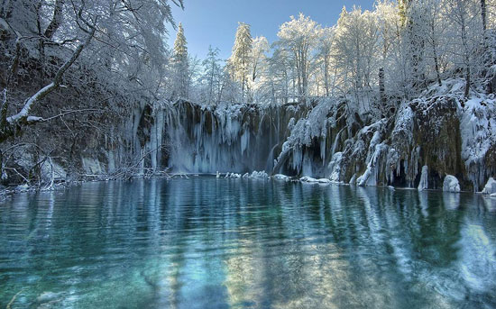 Winter on Plitvice Beautiful Landscape Photography