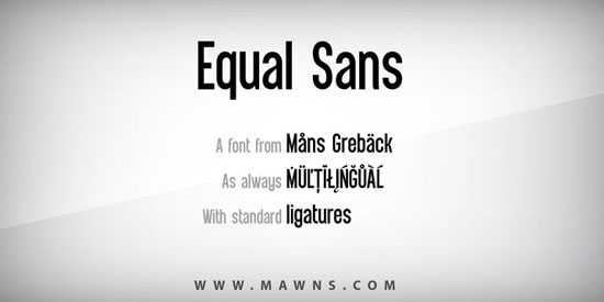 Equal Sans Download for free