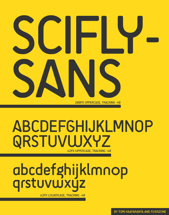 SciFly Sans Font Download for free