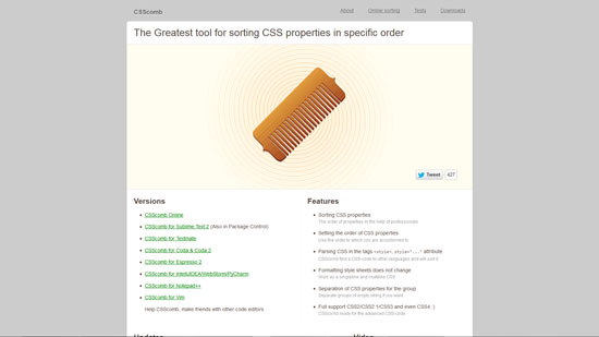 CSScomb: The Greatest tool for sorting CSS properties in specific order