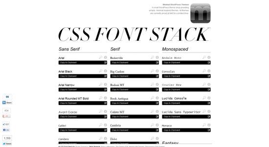 CSSFontStack