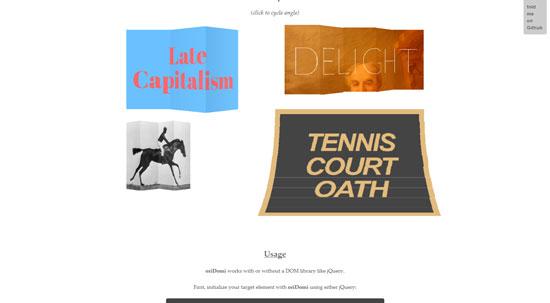 oriDomi: Fold up DOM elements like paper