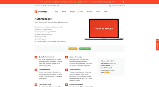 AuthManager: Open Source User Authentication & Management