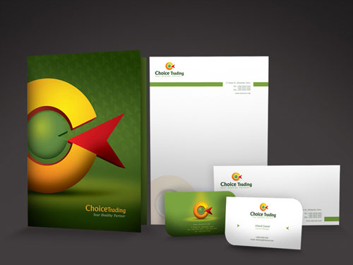 choice stationary 02 letterhead and logo design inspiration - Letterhead Design Ideas