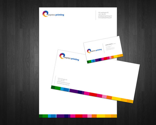 express printing letterhead and logo design inspiration - Letterhead Design Ideas