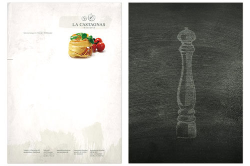 La Castagnas - Letterhead And Logo Design Inspiration