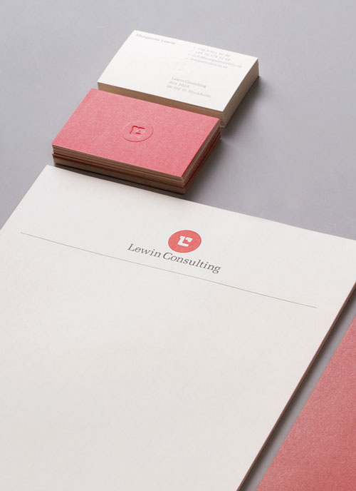 Lewin Consulting - Letterhead And Logo Design Inspiration