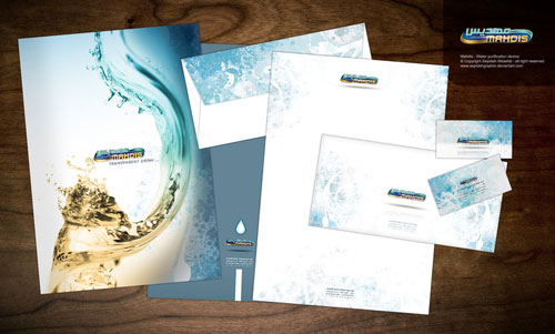 Mahdis - Water purification - Letterhead And Logo Design Inspiration