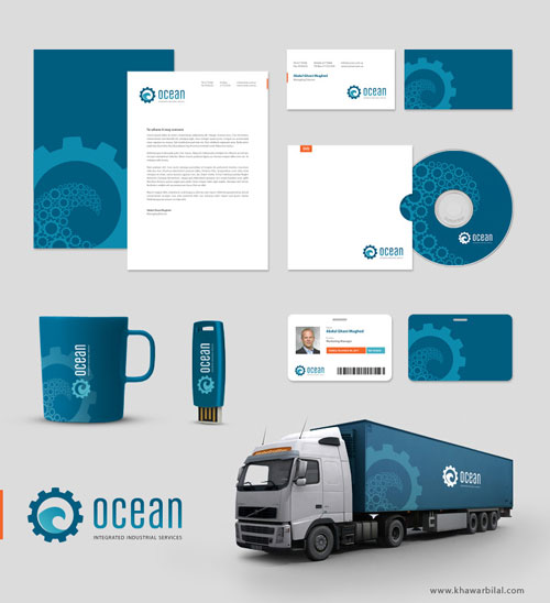 OCEAN Corporate Identity By Khawarbilal Letterhead Examples And Samples 77 Designs