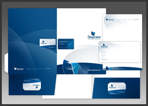 Stepcase logo + stationery - Letterhead And Logo Design Inspiration