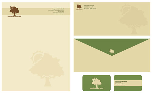 Sunshine Orchard - Letterhead And Logo Design Inspiration
