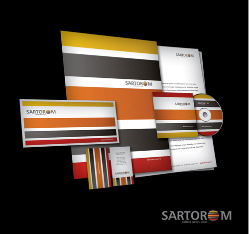 Sartorom logo + business stationery - Letterhead And Logo Design Inspiration