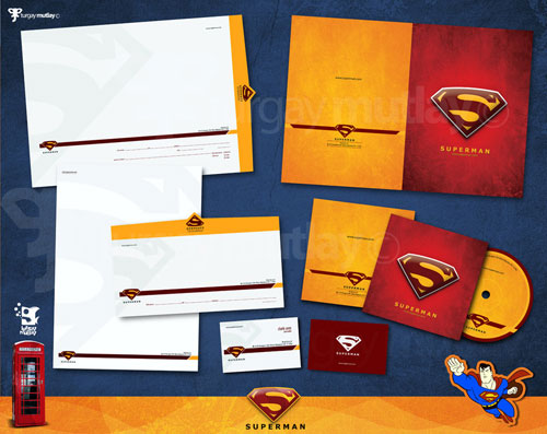 superman corporate identity - Letterhead And Logo Design Inspiration