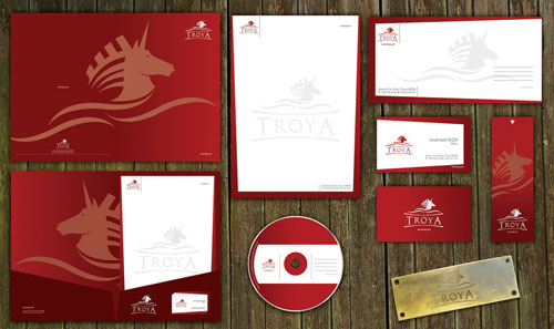 troya - Letterhead And Logo Design Inspiration