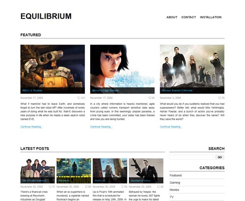 Equilibrium WordPress Theme