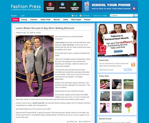 FashionPress WordPress Theme