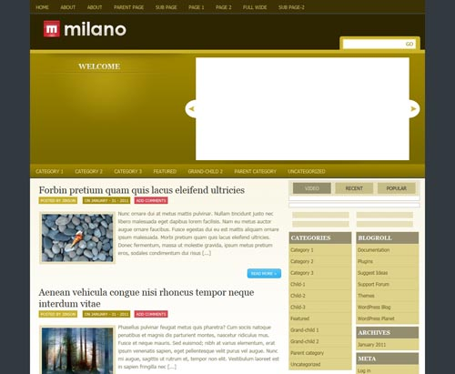 Milano WordPress Theme