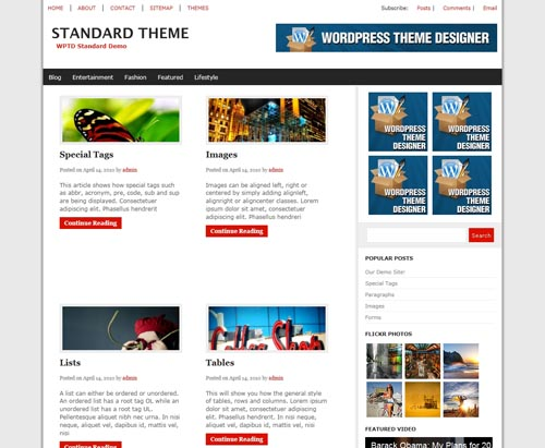 The Web News Theme