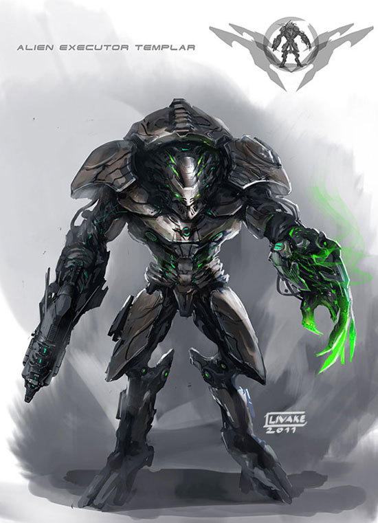 Alien Executor Templar Drawing Illustration Inspiration