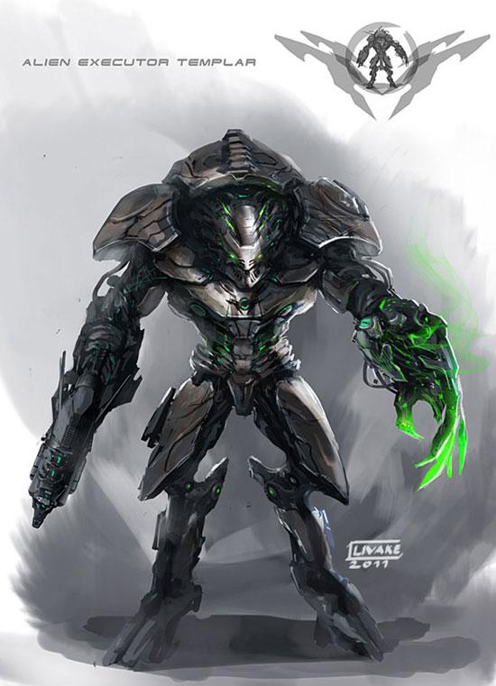 Alien Executor Templar Drawing Illustration Inspiration