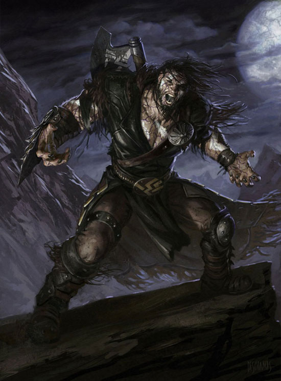 Garruk, the Veil Cursed Drawing Illustration Inspiration