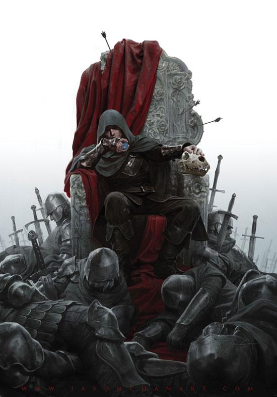 King of Thorns Drawing Illustration Inspiration