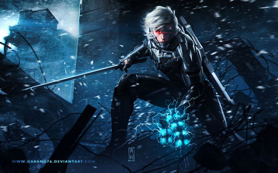 Raiden Metal Gear Revengeance Tribute Drawing Illustration Inspiration