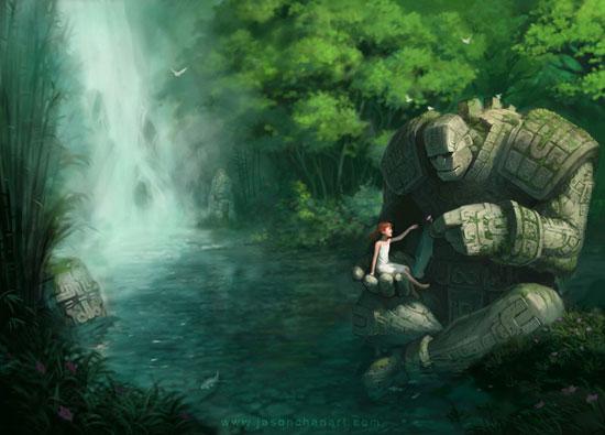 Waterfall Drawing Illustration Inspiration