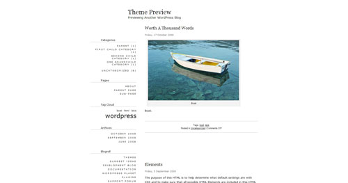 Apricot - Top Quality Free Minimalist WordPress Theme