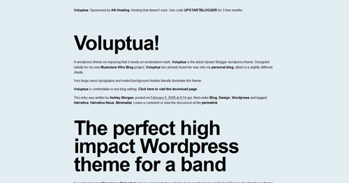 Enormous - Top Quality Free Minimalist WordPress Theme