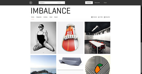 Imbalance - Top Quality Free Minimalist WordPress Theme