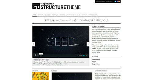 Structure - Top Quality Free Minimalist WordPress Theme